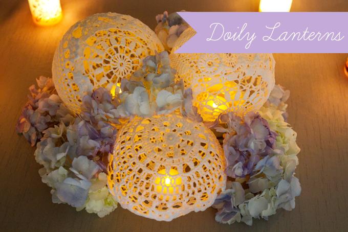 Doily Lantern