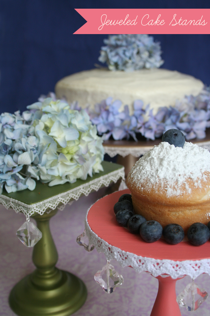 Diy Jeweled Cake Stand A Giveaway Glamour Amp Grace