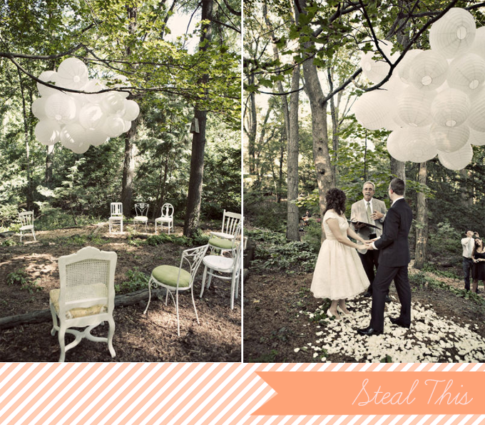 Outdoor Wedding Altars: Glamour & Grace