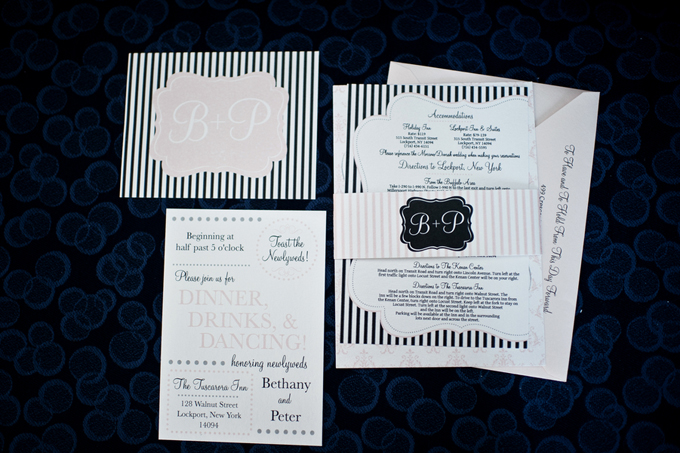 Pink and black invitation