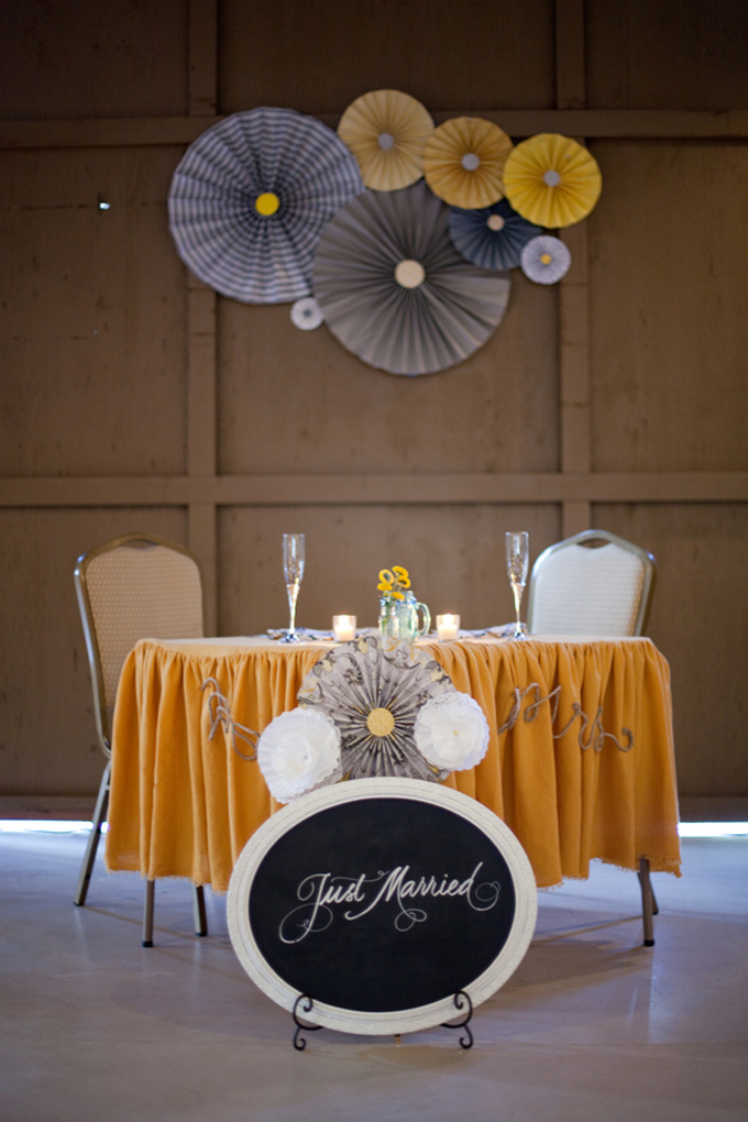 Yellow And Gray Diy Wedding Glamour Grace
