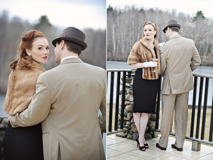Photo Fridays 1940 S Vintage Glam Engagement Glamour
