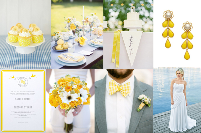 Inspiration Board Baby Blue And Yellow Glamour Grace