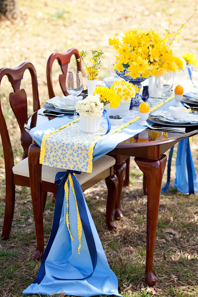 A Cheery Yellow And Blue Spring Styled Shoot Glamour Amp Grace
