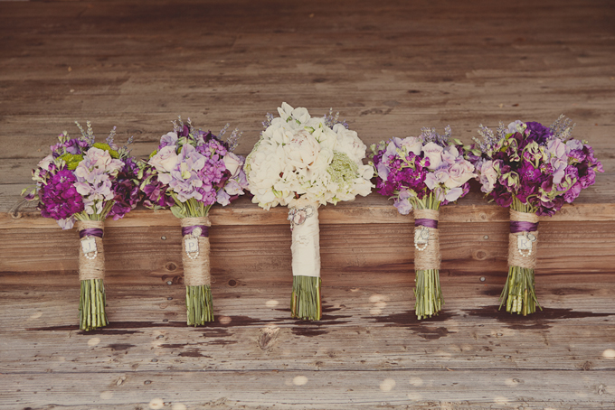A Purple Rustic Wedding | Glamour & Grace
