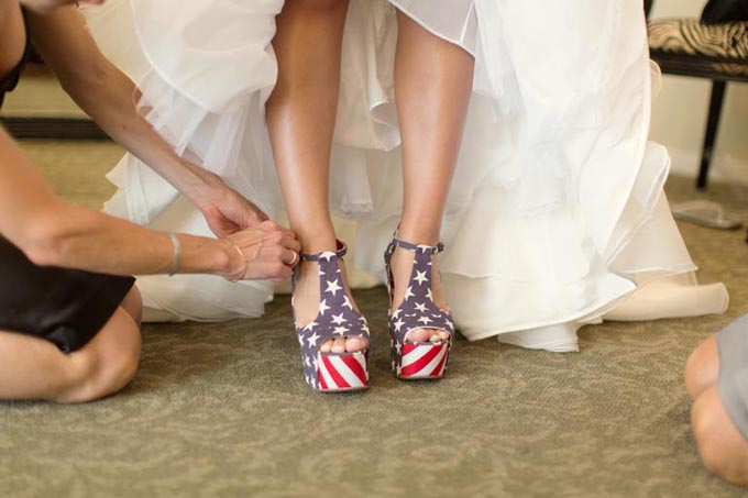 A Red White and Blue Military Wedding | Glamour & Grace