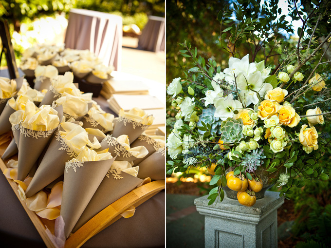 A springtime yellow and gray wedding glamour grace the delightful mightylinksfo