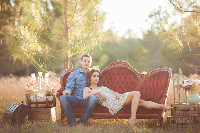 A Romantic Vintage Styled Engagement Session Glamour Amp Grace