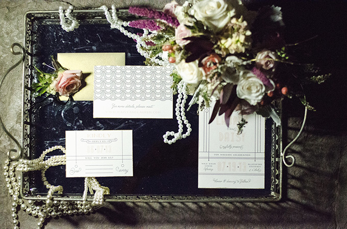 Rustic Art Deco Wedding Inspiration Glamour Amp Grace