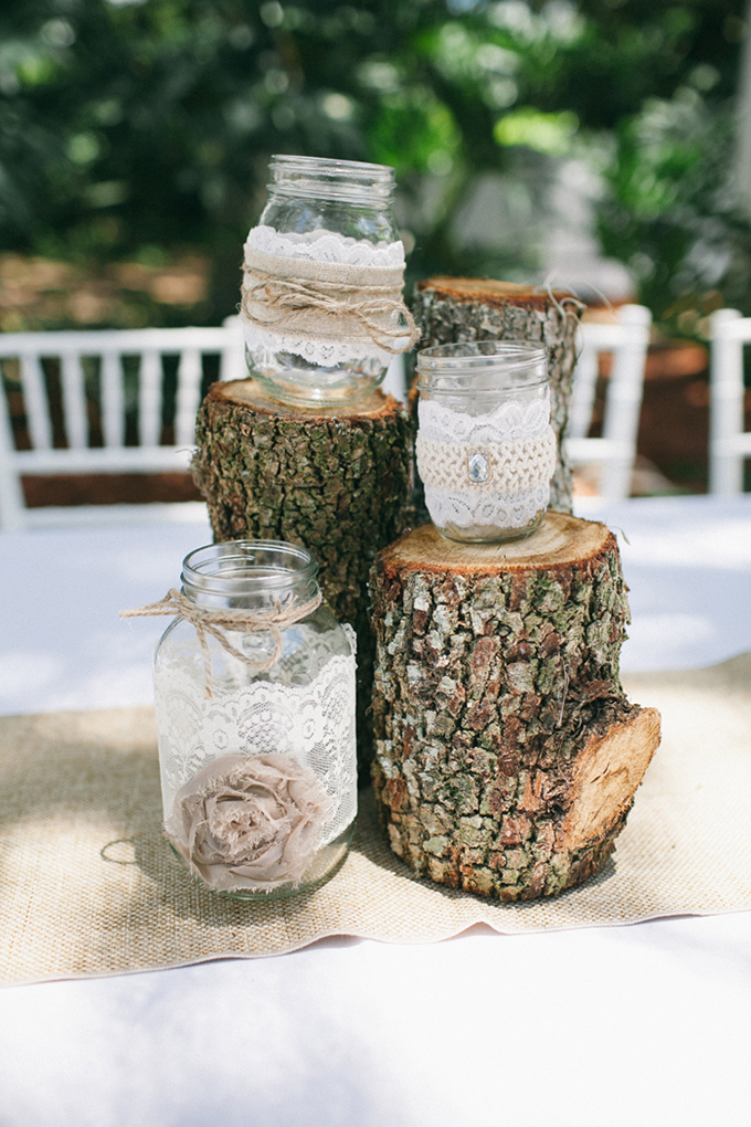 rustic centerpieces | Jennifer Martin Photography | Glamour & Grace