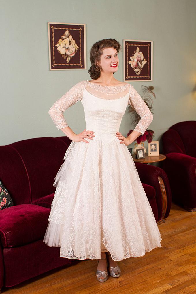 1950 S Vintage Wedding Dresses Glamour Amp Grace