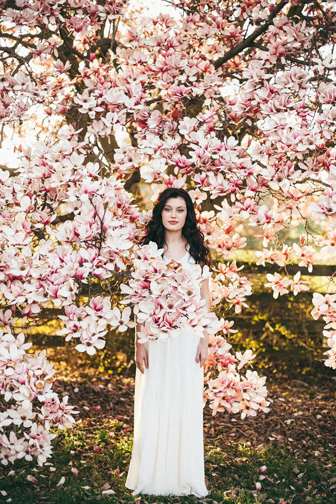 Floral Springtime Bridal Portrait Glamour Amp Grace