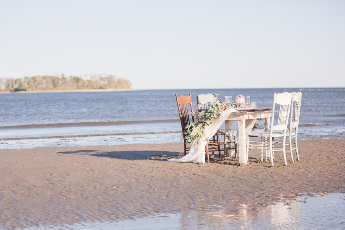 sunset beach wedding inspiration | Kristina Staal Photography | Glamour & Grace