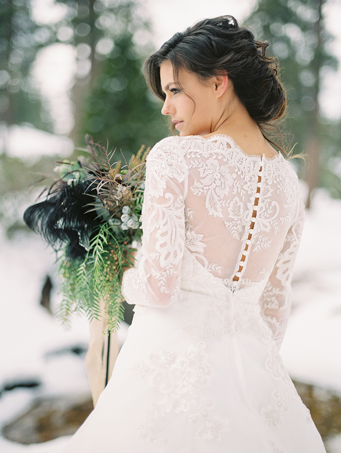 Magical Winter Bridal Session Glamour Amp Grace